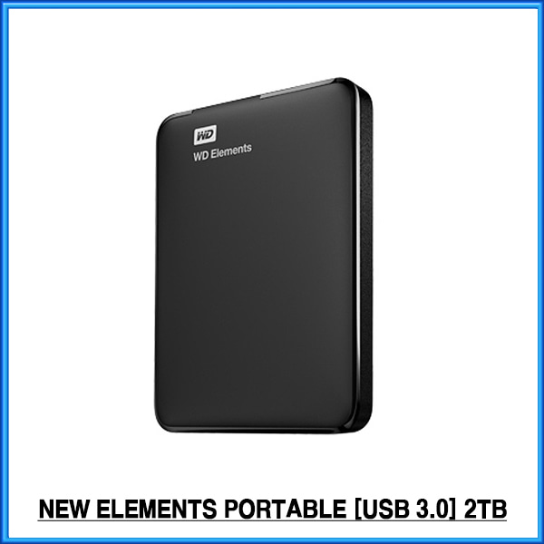 WD NEW Elements Portable  (USB3.0/파우치증정) 외장하드 2TB
